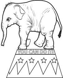 Small Picture Free Printable Circus Elephant Coloring Page for Kids 2