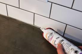 caulking kitchen backsplash. Beautiful Caulking How To Lay A Thin Strip Of Caulk Along With Caulking Kitchen Backsplash