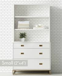 ... Small Subway Tile Pattern Lines Wallpaper ...