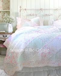 pastel bed sheets pink ruffled bedding a pastel pink roses ruffles patchwork quilt set pastel striped