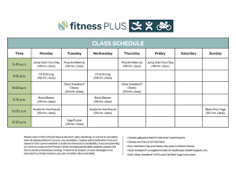 Syracuse Fitness Plus Class Schedule