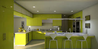 Modern Wooden Kitchen Cabinets Good Lime Green Wall Paint Color Of Contemporary Kitchen Design
