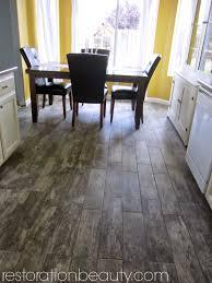 Kitchen Wood Tile Floor Faux Wood Tile Flooring In The Kitchen In Kitchen Wood Tiles