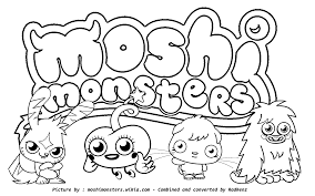 Small Picture Moshi Monsters Coloring Pages GetColoringPagescom