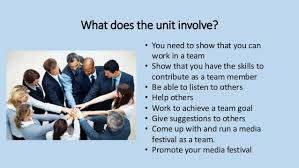working as a team lesson 2 working in a team