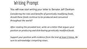 gmo argumentative essay a letter 15
