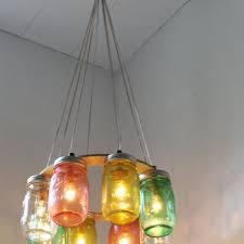 jar lighting fixtures. Tropical Fruit Mason Jar Chandelier - Upcycled Hanging Lighting Fixture Direct Hardwire BootsNGus Fixtures