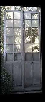double antique glass door in xixth oak