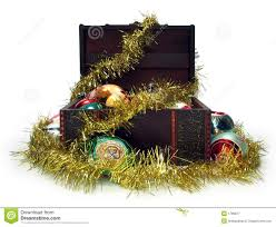 Treasure Chest Decorations Treasure Chest Full Of Christmas Decorations Royalty Free Stock