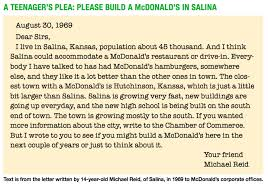 reunion planned for former mcdonald s employees lifestyle salina journal salina ks