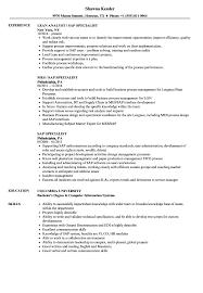 Computer Information Systems Resume Sample SAP Specialist Resume Samples Velvet Jobs 14