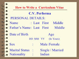 How To Make A Curriculum Vitae Inspiration 28 Ppt How To Make A Cv Full