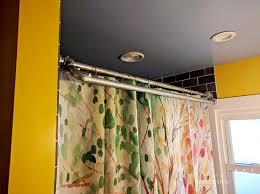 diy double shower curtain rod