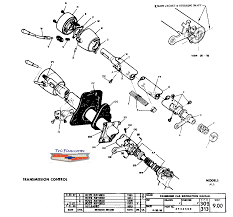 steering column diagram trifive com 1955 chevy 1956 chevy 1957 column exploded views