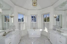 traditional bathroom lighting ideas white free standin. traditional full bathroom with freestanding bathtub textured fabric shade 17 14 lighting ideas white free standin o