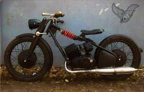 vintage bike of the day custom csepel pannonia bobber bikermetric