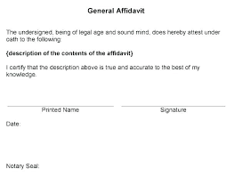 General Affidavit Example Cool Adobe Word Doc Free Affidavit Template Small Estate Ramautoco