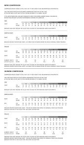 Cmp Size Chart Cmprss Size Guide