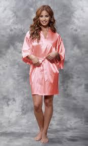 Light Pink Kimono Robe Light Coral Satin Kimono Short Robe In 2019 Satin Kimono