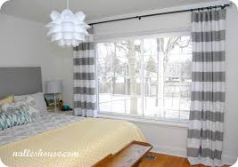 Full Size Of Curtain:curtain Fearsome Grey White Striped Curtains Image  Design And Ideas Stripe ...