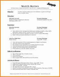 Best Teacher Resume Example Livecareer Math Teaching Objective