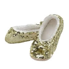 Snoozies Womens Spring Brights Bling Ballerina Sequin Slippers