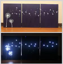 on lighting up wall art with 3 ways to design three panel light up dandelion wall art