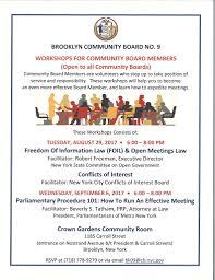Cb9 Community Board Workshop Flier Community Board 9 In