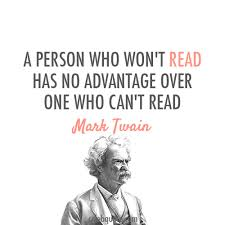 quotes mark mark twain quote about books read reading