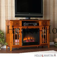 electric fireplace a stands center with glass embers holly martin heater cabinet