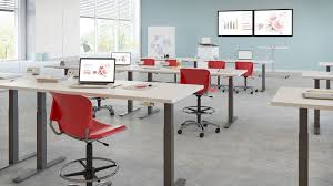 combined office interiors desk. Light Blue Wall Design Combined With Fetching First Office Furniture Sets Ideas Interiors Desk