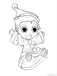 Elves Coloring Pages Printable Z6325 Elf Coloring Pictures To Print