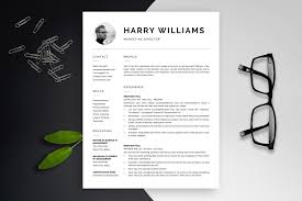 Modern Resume Template Harry Bonus