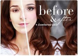 alina rose makeup konturowanie przed i po
