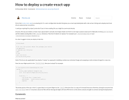 How to deploy a create-react-app - Peterbe.com