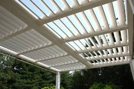 wall mounted pergola wooden sun shade louvers