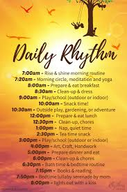 Waldorf Chore Chart How To Plan Your Daily Routine And Weekly Rhythm Rhythms