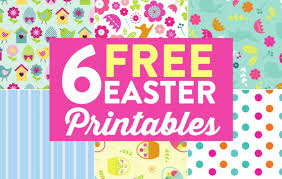 Free Easter Papers Paper Craft Download