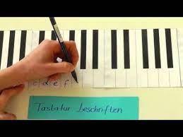 Hallo, gibt es eine internetseite wo man klavier ode. Tastatur Beschriften Youtube