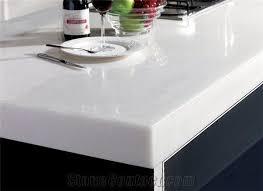 pure white nano artificial stone kitchen countertops