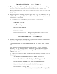 007 Essay Example How To Cite In Mla Citing An Sources Poetry Book
