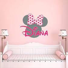 minnie mouse wall decor girl name wall decal mouse wall decals wall decals nursery girls bedroom decor personalized baby name wall decal kids decor minnie