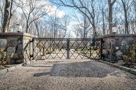 Stone Entry Gate Designs Iron Driveway Gates Tri State Gate
