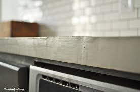 cement countertops feather finish