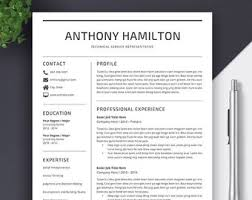 Resume Template For Word And Pages Cover Letter References