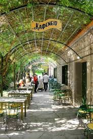 a traditional kafeneio in the national garden