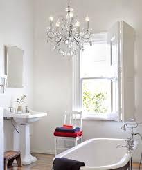 Bathroom lighting chandelier Rustic Bathroom Beacon Lighting Madeleine Light Crystal Chandelier In Chrome