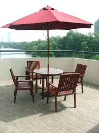 hole insert patio tables for table umbrella ring base of bar furniture set home library ideas