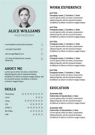 Resume Template Doc Unique Resume Template Creative CV Doc Word Free