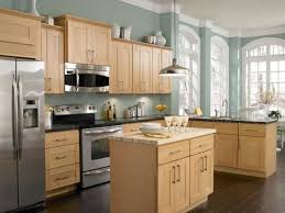 small kitchen paint colors with honey oak cabinets
